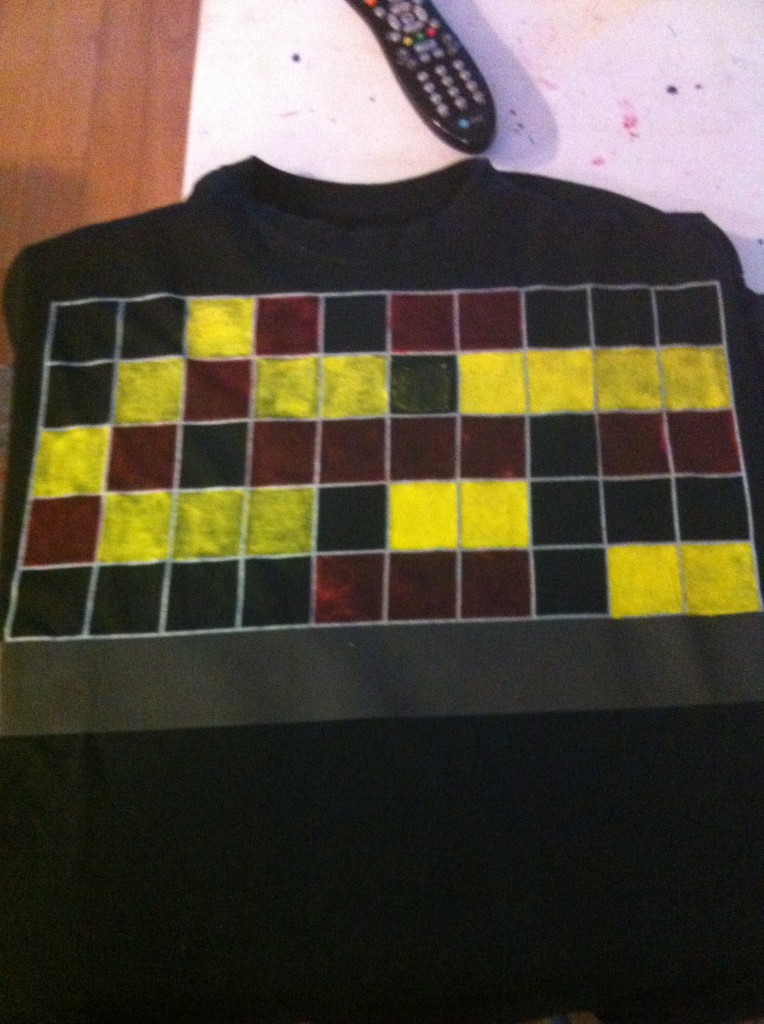 Colorsign painting on a shirt...(in progress)...