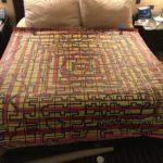 A six foot by six foot bedspread!!!